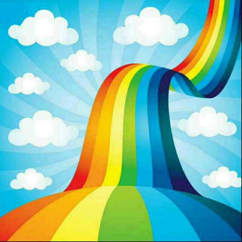 彩虹的风景怎么画