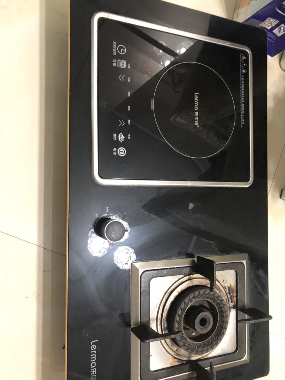 乐尔玛炉盘燃气电磁炉,9成新,用了不到半年,很爱惜,搬家甩卖,成心要的来。左边电磁炉,可拆卸,吃火锅...