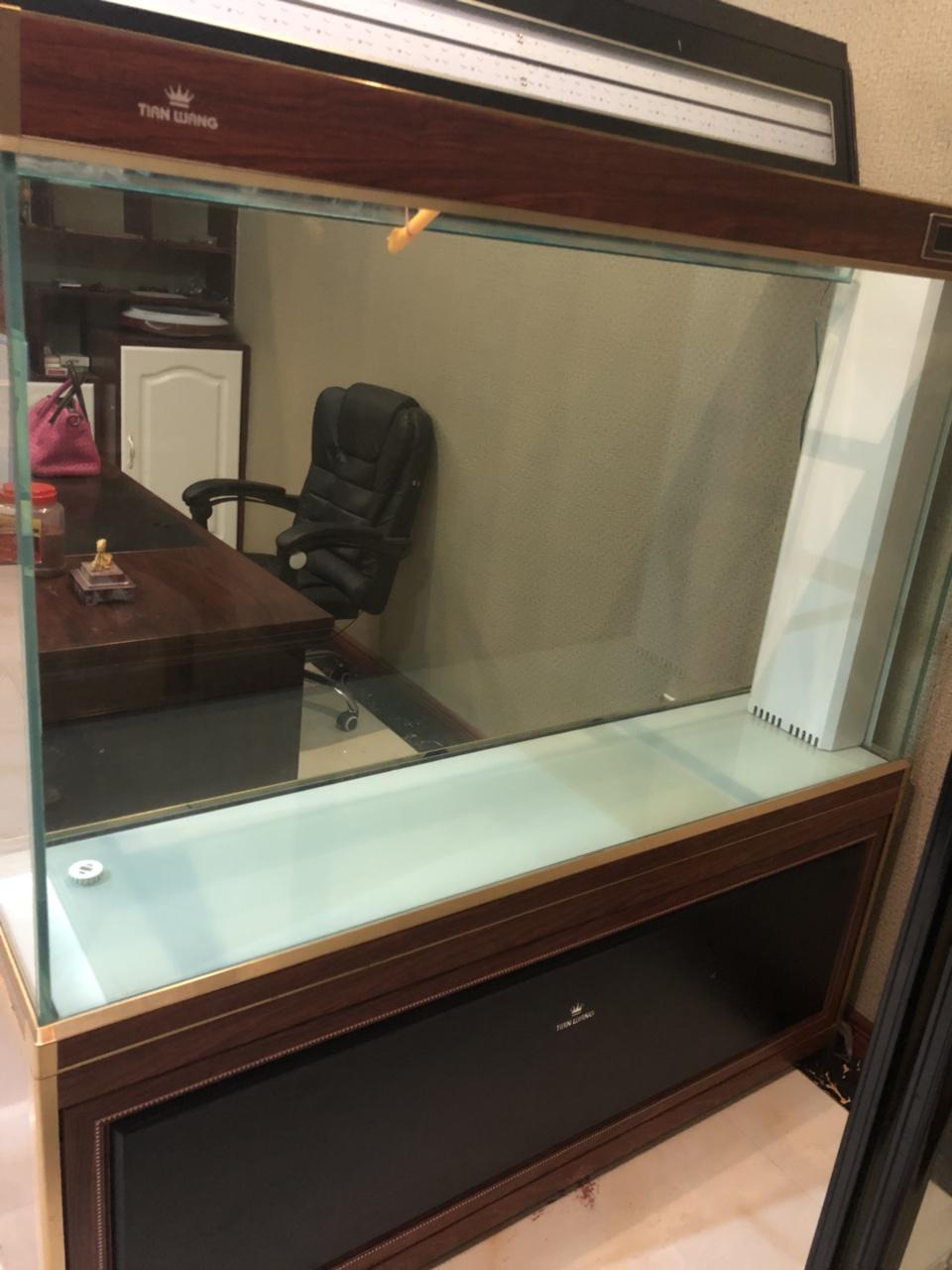 低价出售九九成新鱼缸,一米五左右,上滤带鞋柜