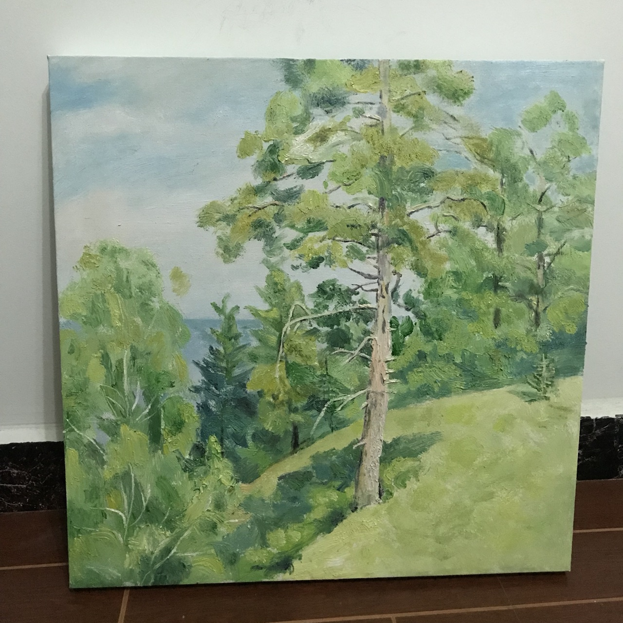 50cm×50cm,纯手绘装饰画油画,可订做,同城可送货上门