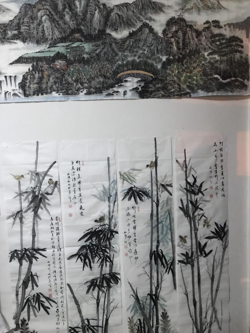 【书讯】书画名家白冰张涛两位老师来张家川挥毫泼墨