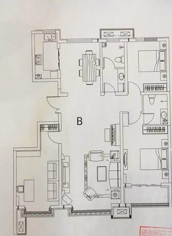 西苑华庭3室 2厅 2卫146万元