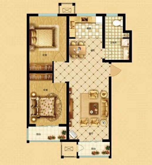 宏美金领域2室1厅1卫55万元