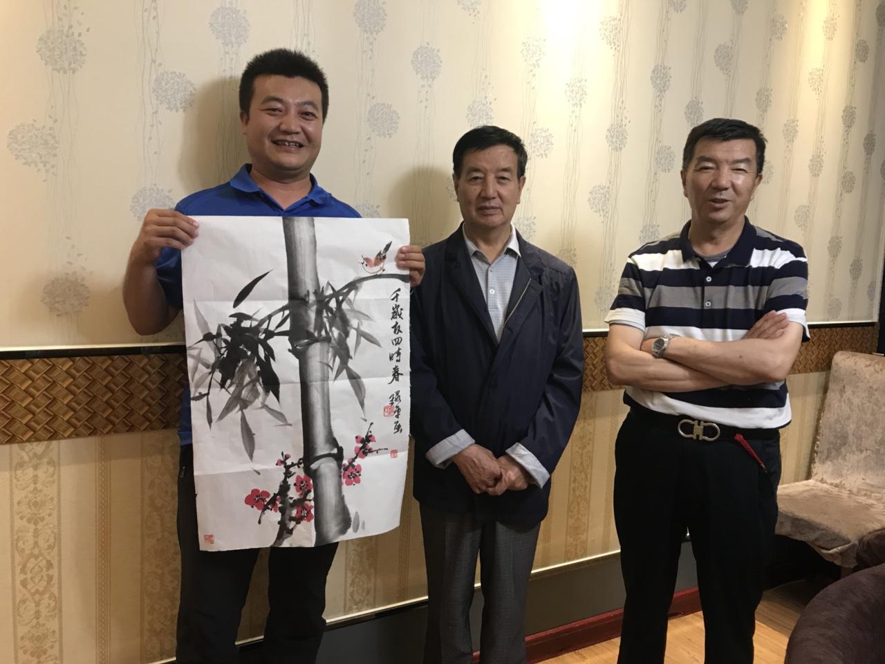 西北竹王赵录平赠送张家川在线网站书画作品