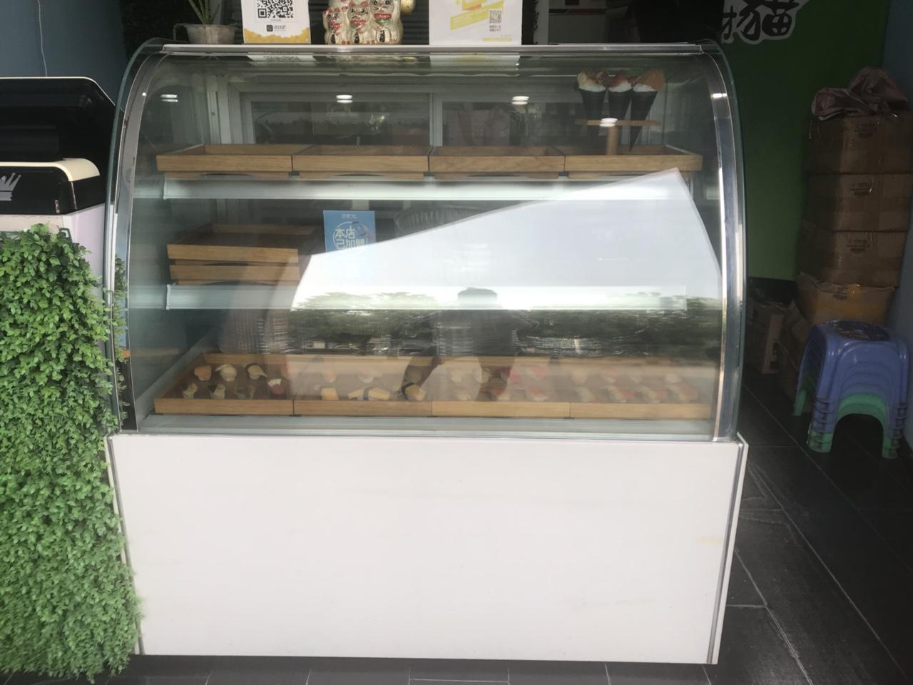 冷藏保鮮柜展示柜,九層新,功能齊全(制冷、照明、除霧、保濕)長:120cm 寬:70cm