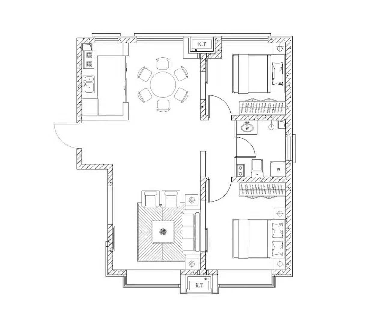 万泰鑫城嘉园2室 2厅 1卫88万元