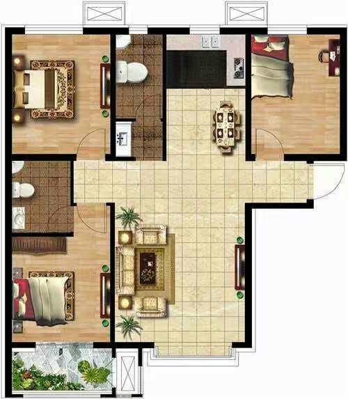 盛景华庭3室 2厅 1卫99万元