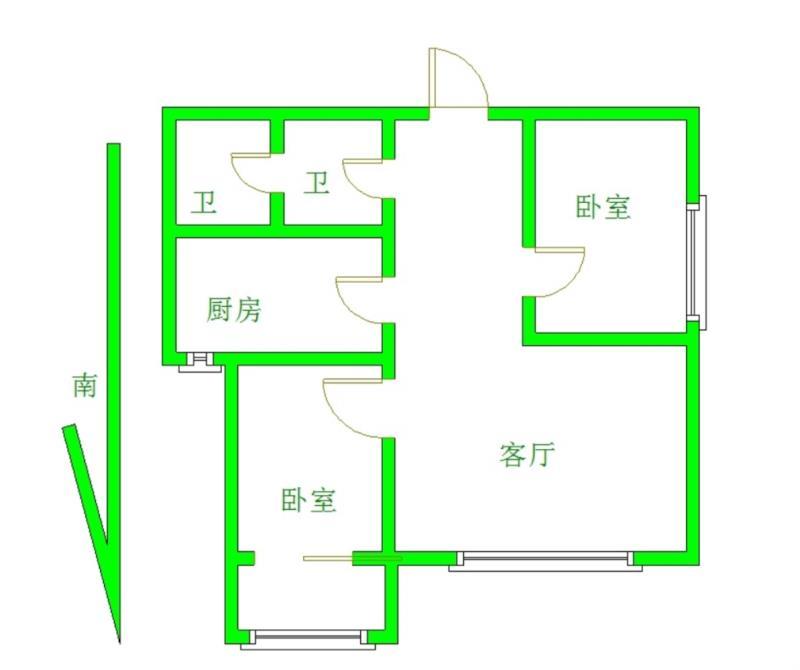 日上滨湖小区2室 1厅 1卫67万元