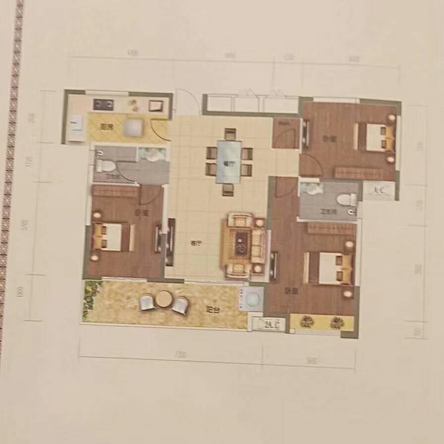 奥园广场3室 2厅 2卫55万元