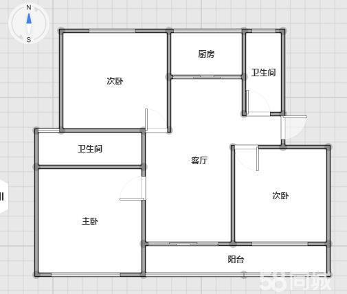 锦绣青城回迁小区3室 2厅 2卫52万元