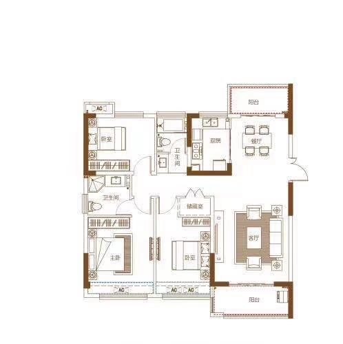鼎建·紫金名门3室 2厅 1卫68万元