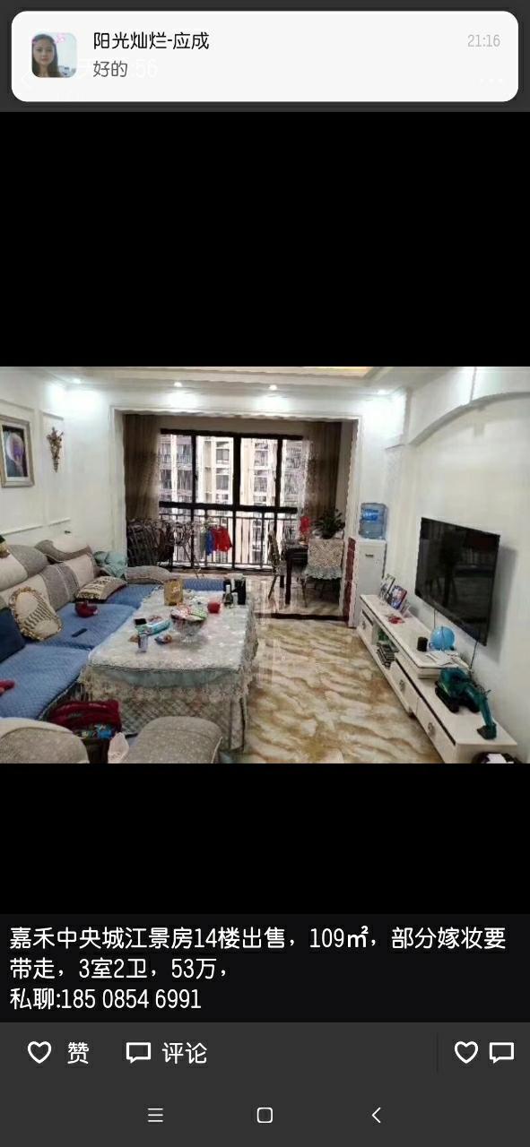嘉禾中央城3室 2厅 2卫52.8万元
