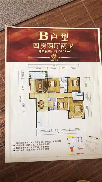 德利●藏龍世家4室 2厅 2卫53万元