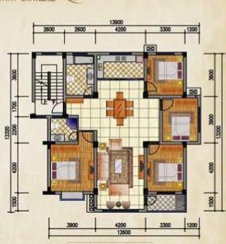 瑞特尚园4室 2厅 2卫65万元