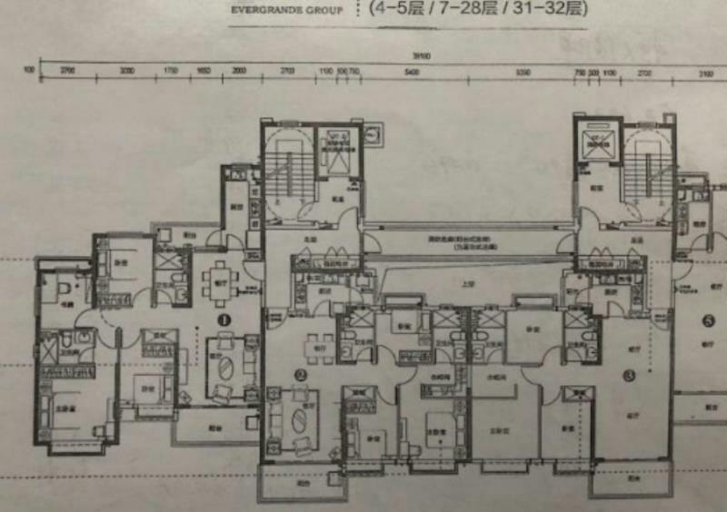 恒大御景3室 2厅 2卫123万元