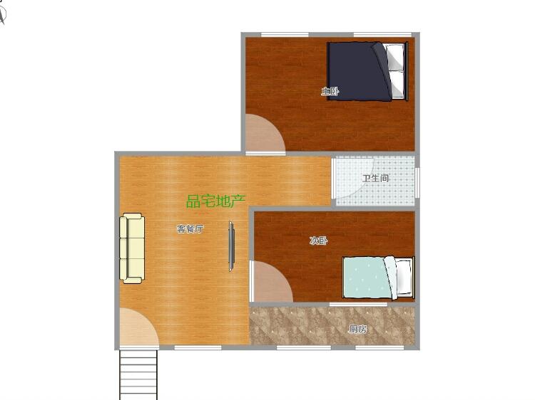 椒莲小区附近2室 1厅 1卫16万元