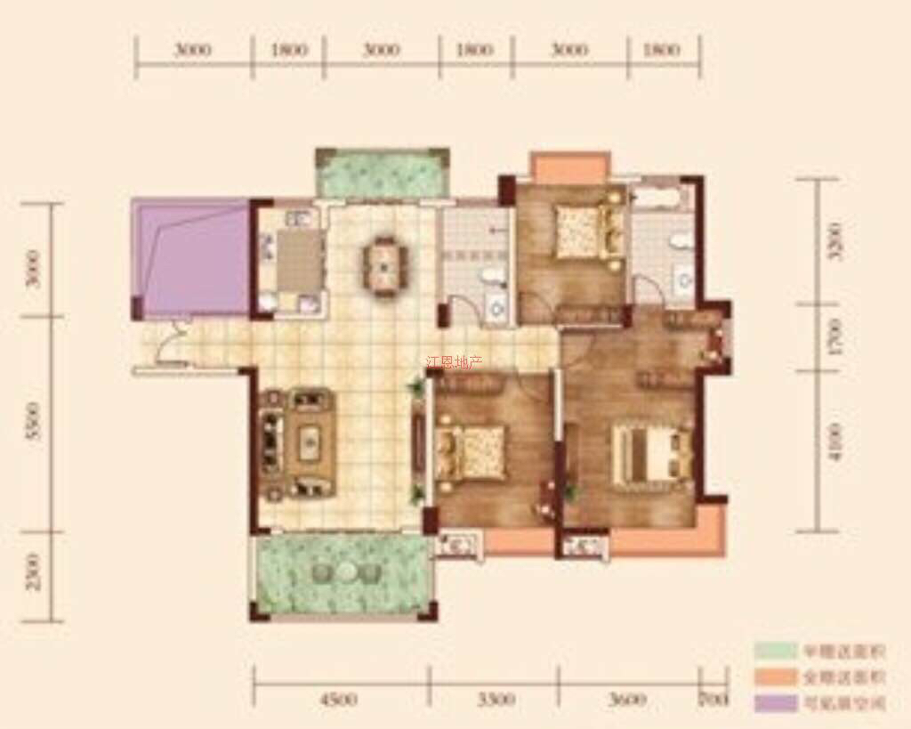 带大露台」雨帆·御龙城4室 2厅 2卫97万元