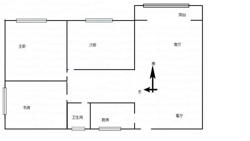 公刘华府3室 2厅 1卫面议