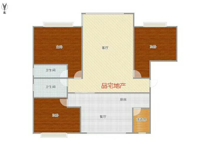 山水城附近3室 2厅 2卫80万元