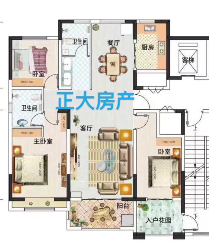 正和·紫荆尚城单价7000一平板式楼采光无敌
