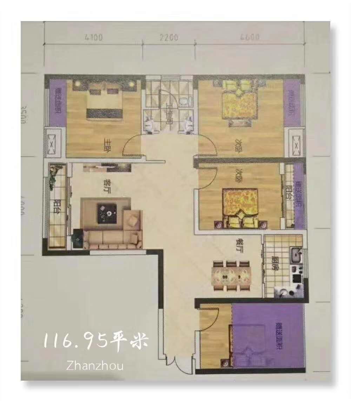 正恒帝景4室 2厅 1卫99万元
