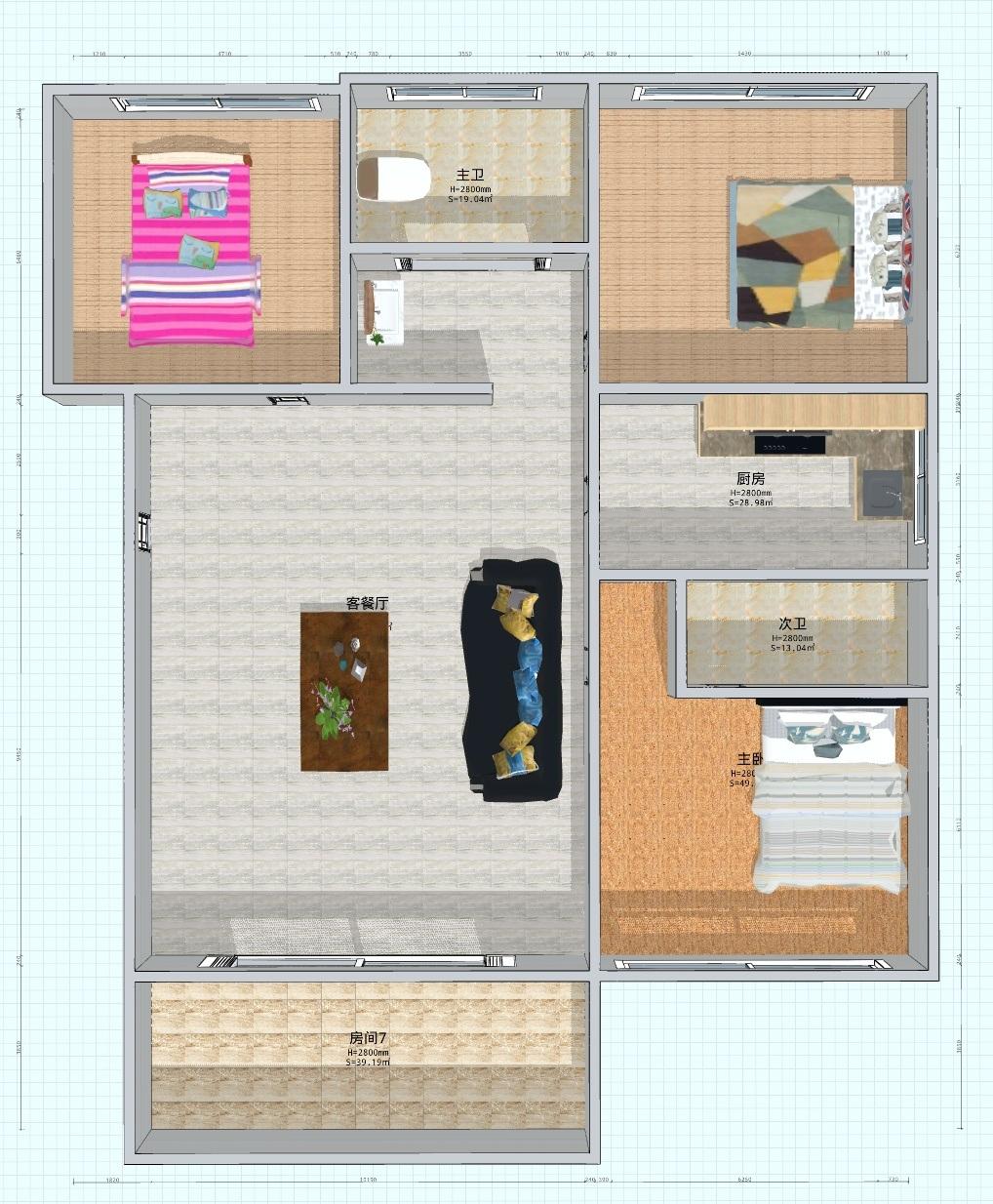 世茂国际广场 3室 2厅 2卫43万元