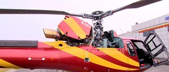 德阳广播电视台――西部首架装备应急救援设备直升机在广汉组装完成