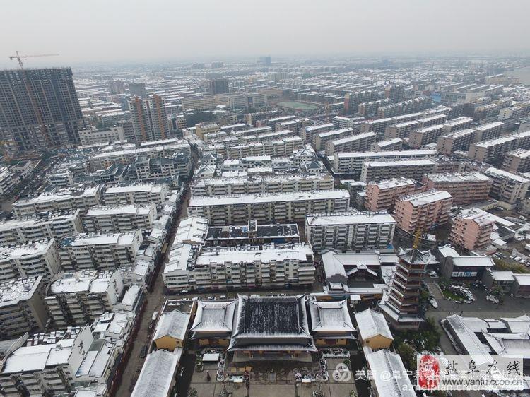 从未想过在这样的角度看阜宁,还是2016年冬天的初雪