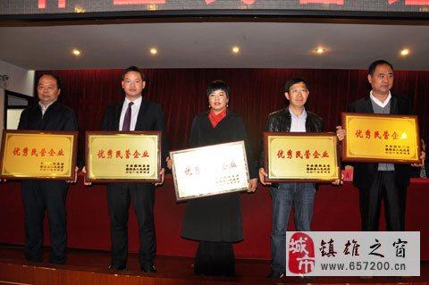镇雄15家优秀企业受到表彰,每家企业获得15万元奖励
