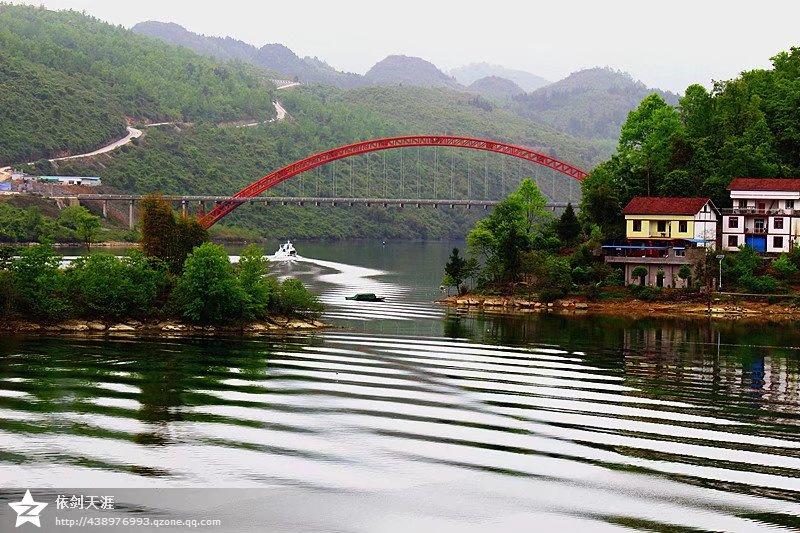 【乌江明珠,风情洪渡】—— 魅力彩虹桥