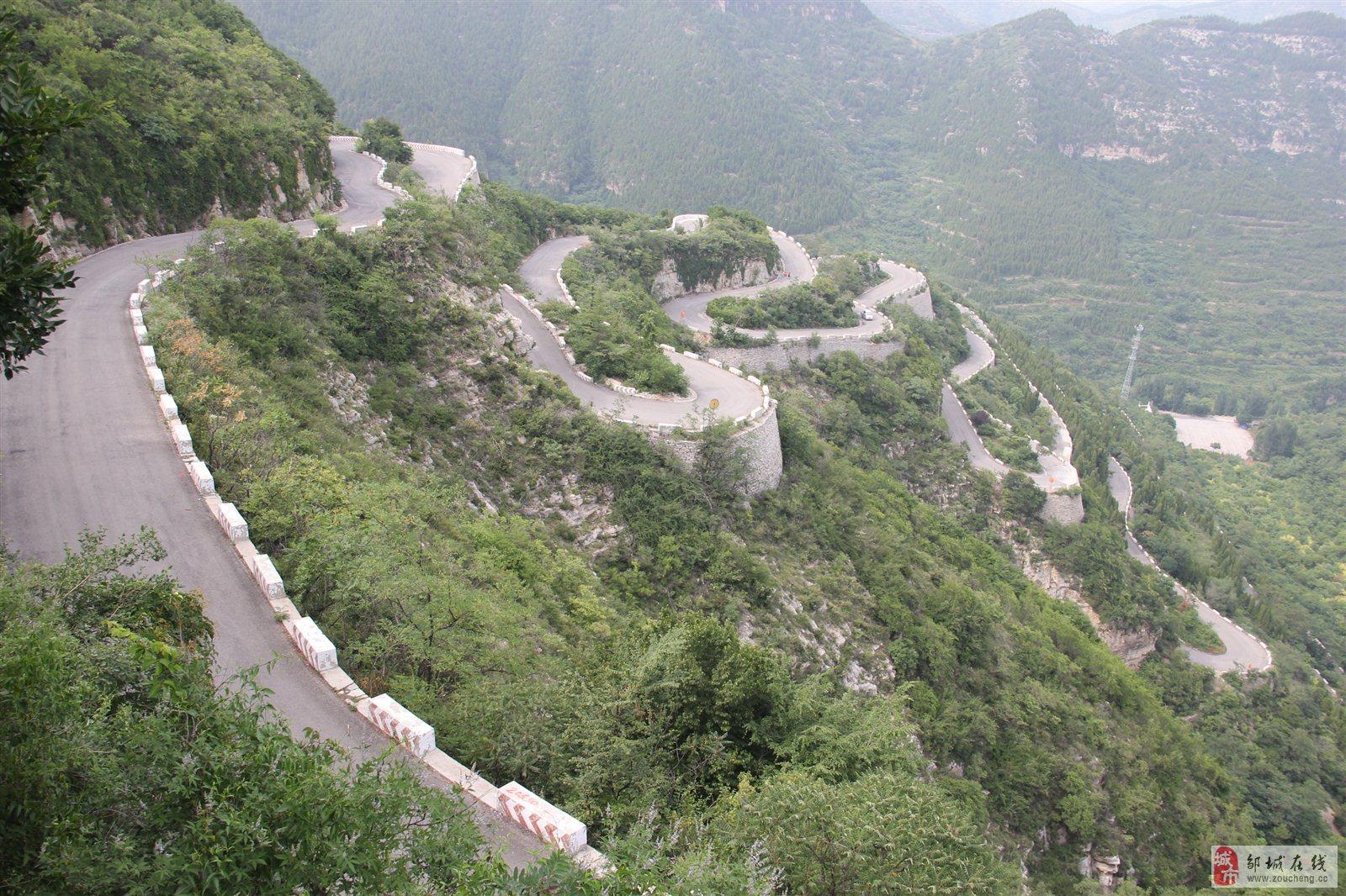 """青州""""仰天山""""的盘山公路!"""
