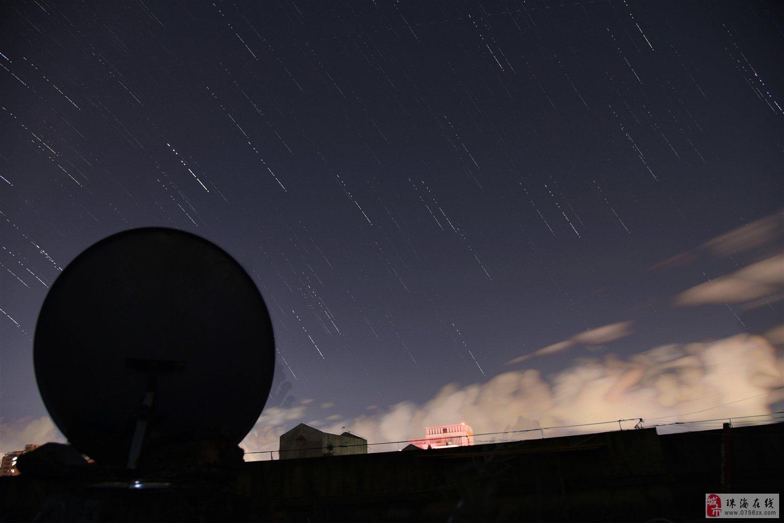 珠海市区也能拍摄漂亮的星轨哦!