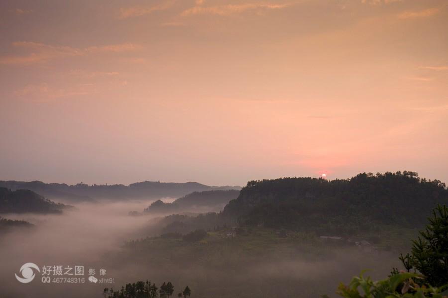 风光无处不在――云雾仙山,威远骑龙坳风光(图片)