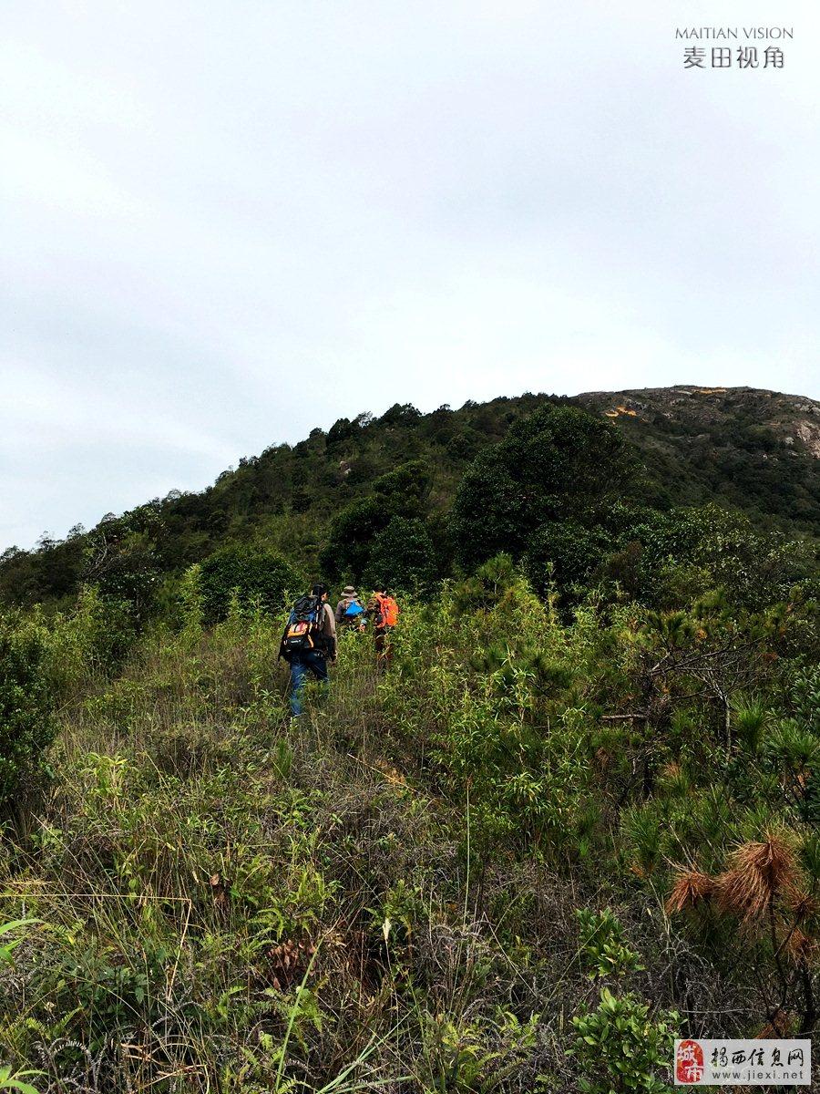 攀登揭西千米高峰大乌岽看美景
