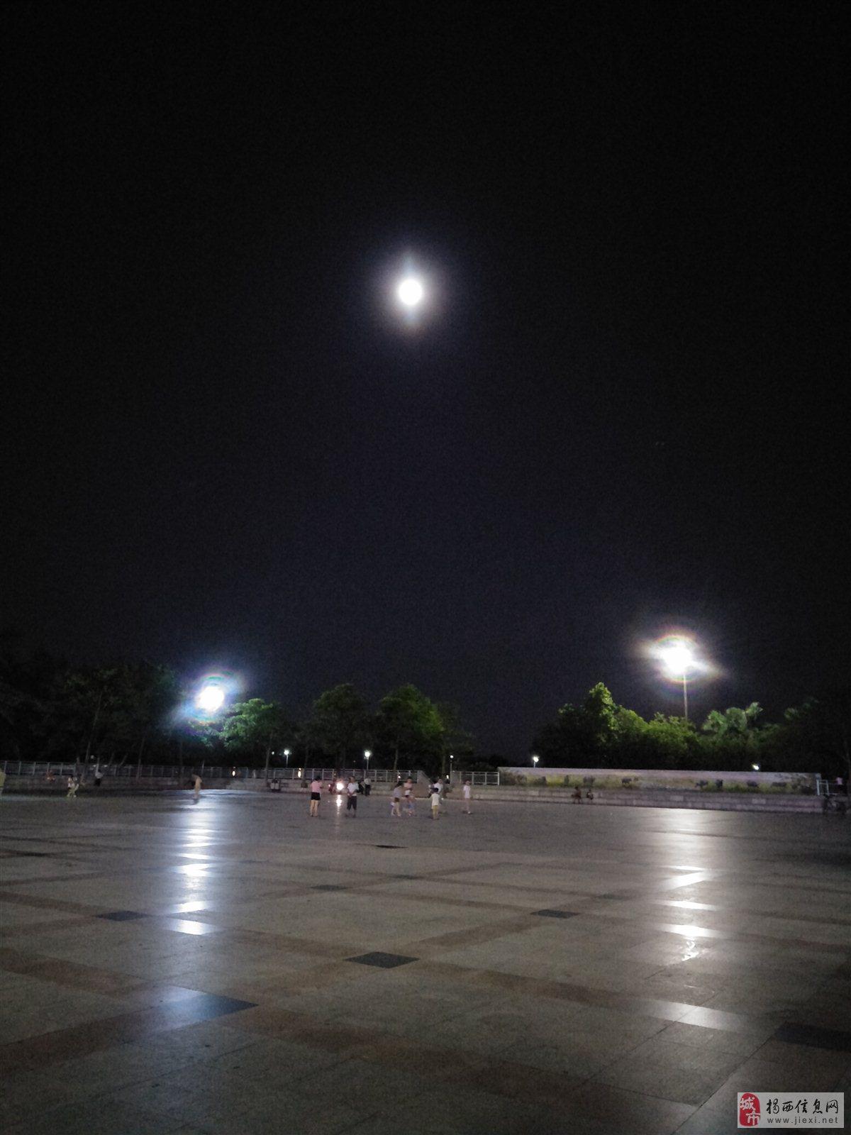 月偏食没看见3个月亮出现了