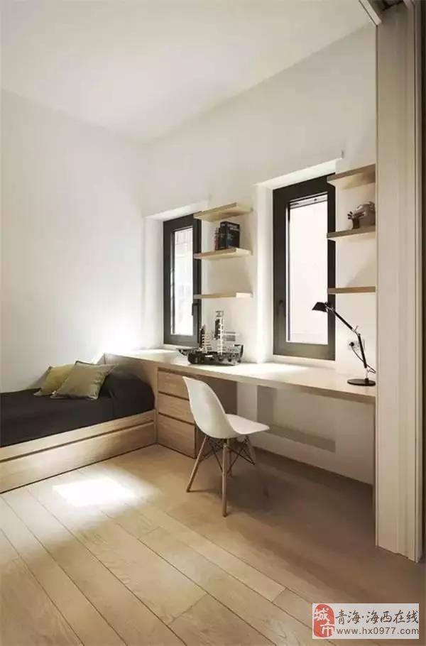 卧室书房一体化设计,一房两用超省空间!