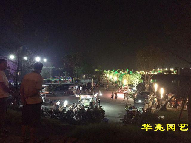 带你一起去看广汉的夜景――鸭子河畔,三水易家河坝(图片)