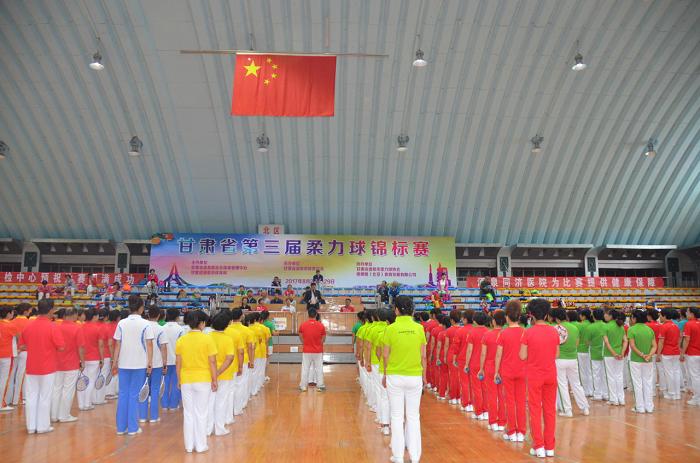 2017年甘肃省第三届柔力球锦标赛 瓜州又获二等奖