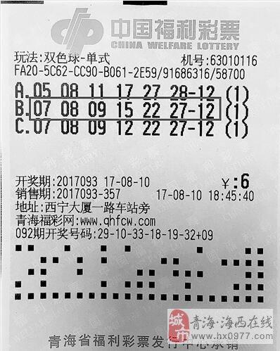"""西宁这位彩民真走运!""""守""""来529万元大奖!!"""