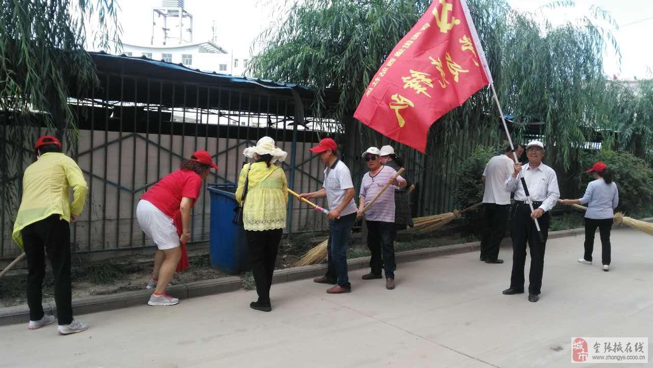 党日主题活动,让我们的党员同志们参与全域无垃圾专项整治行动中来.