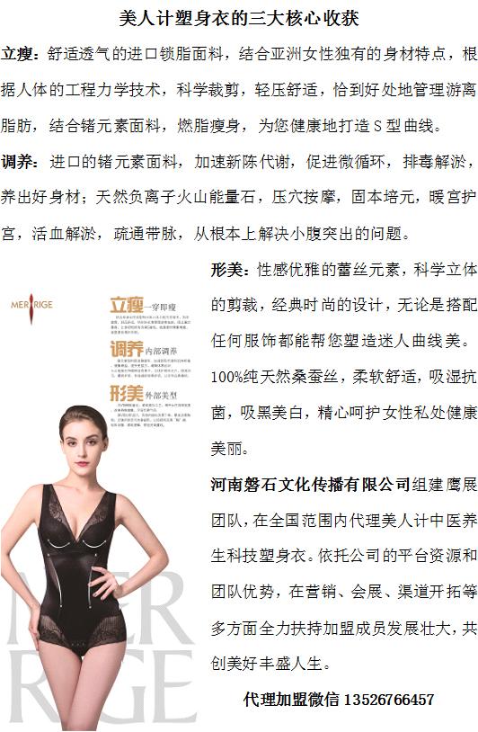 美人计中医养生科技塑身衣