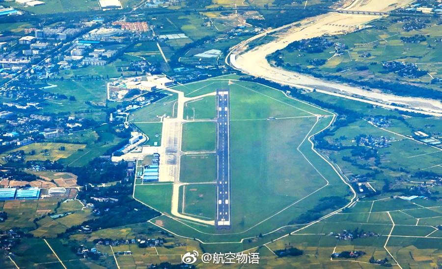 一张广汉中国民航飞行学院的航拍图送给大家,四川航展就要在这里开幕啦