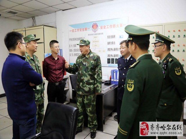 总队政治部李大义主任深入齐齐哈尔支队督导十九大消防安保工作