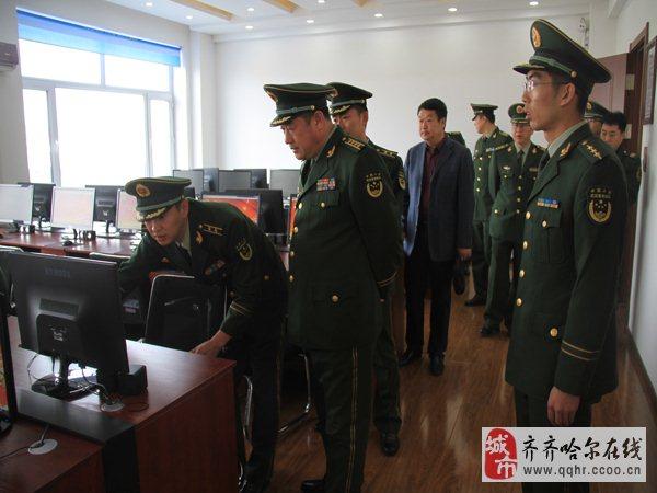 总队政治部李大义主任深入齐齐哈尔支队基层大队检查指导工作