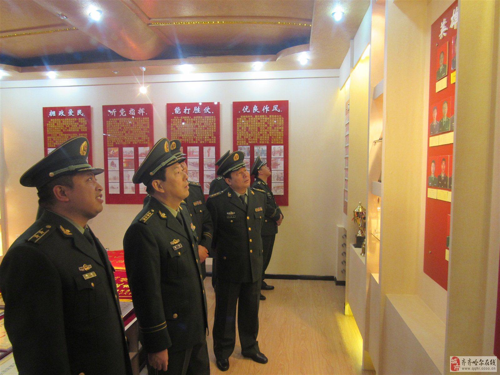 总队伍伟政委深入齐齐哈尔支队视察党的十九大消防安保工作(2)
