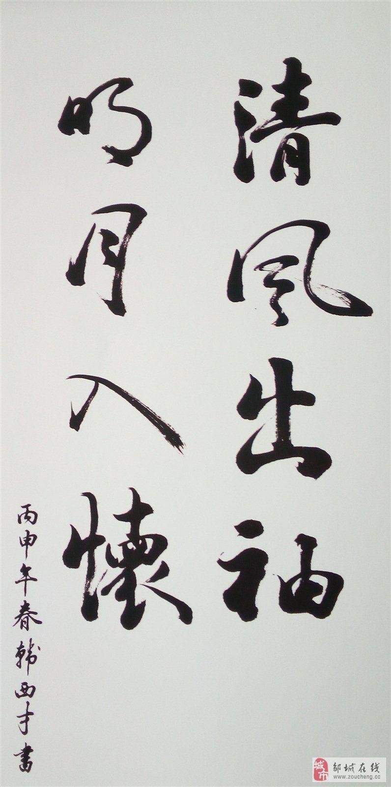 邹城地税局:韩西才先生书法作品欣赏《2》