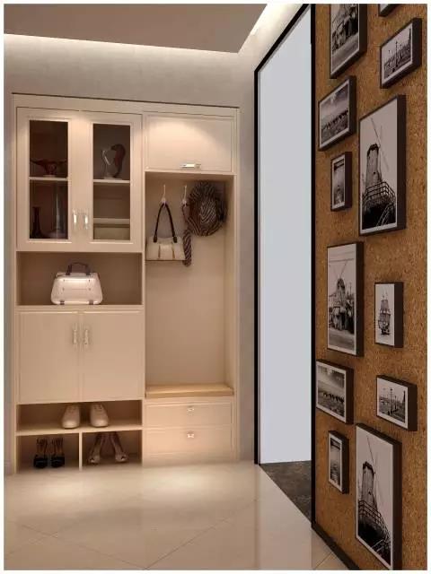 鞋柜+悬挂区组合式鞋柜