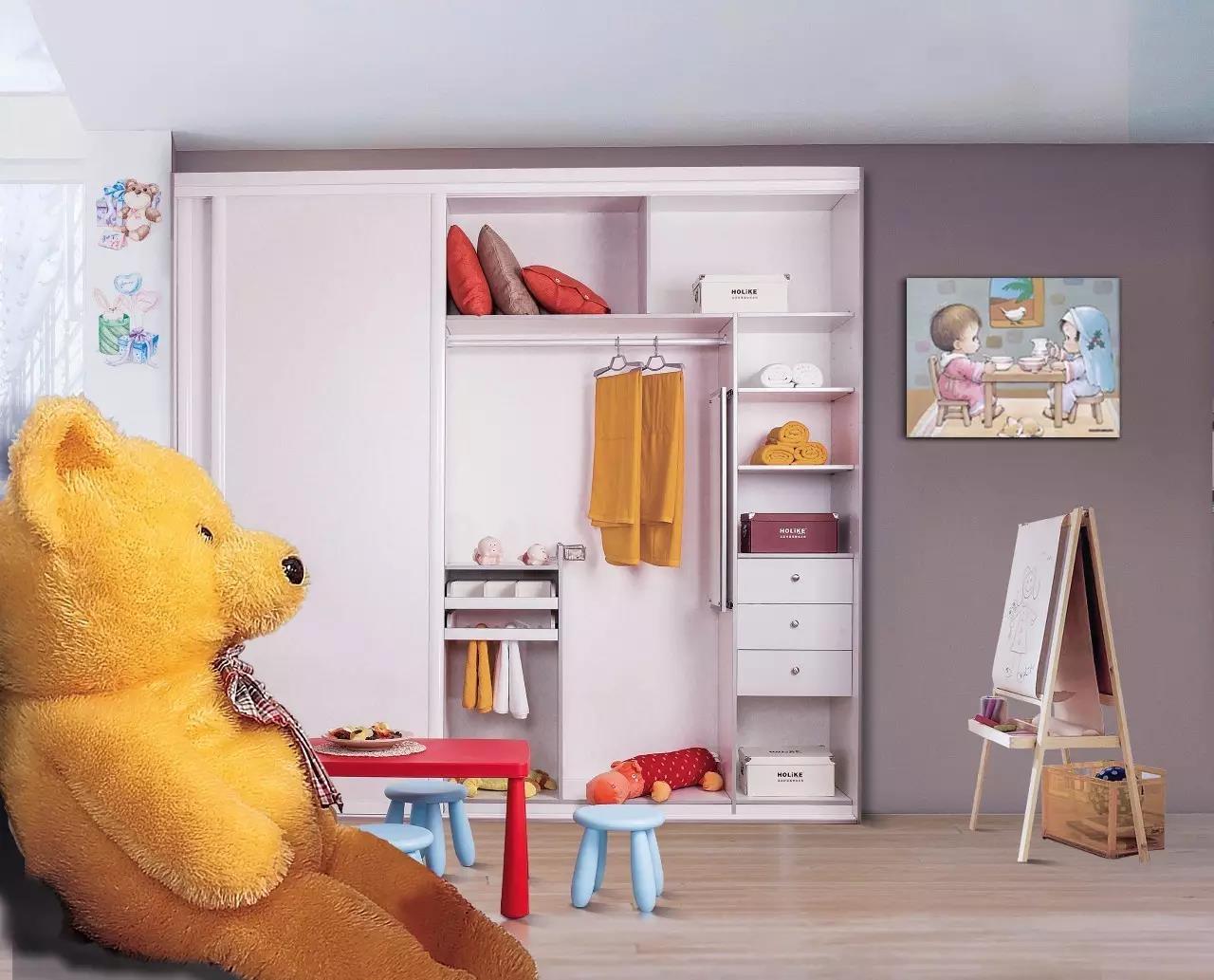 衣柜中的抽屉属于明确分类区