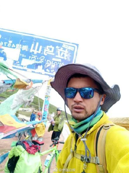 鹤城小伙儿樊强强徒步成功到拉萨