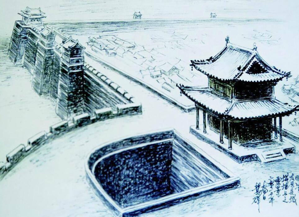 太原古县城手绘地图正式发行 全面展示古城风貌